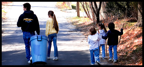 earth day neighborhood trash clean up