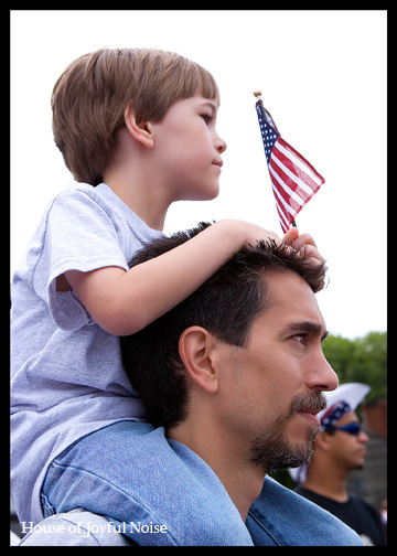 father-son-4th-of-july-parade