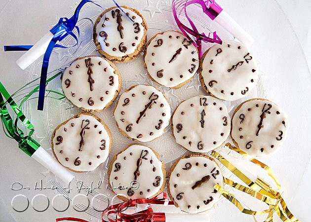 New Year's Eve clock cookies