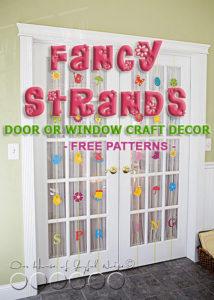 Spring Fancy Strands|Door or Window Craft Decor|Giveaway (Closed)