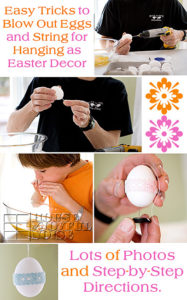 How to Blow Out Egg Yolks and String for Hanging | Decorative Eggs for Keeps.