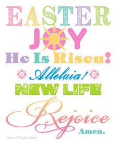 Spiritual Easter Printable for You.