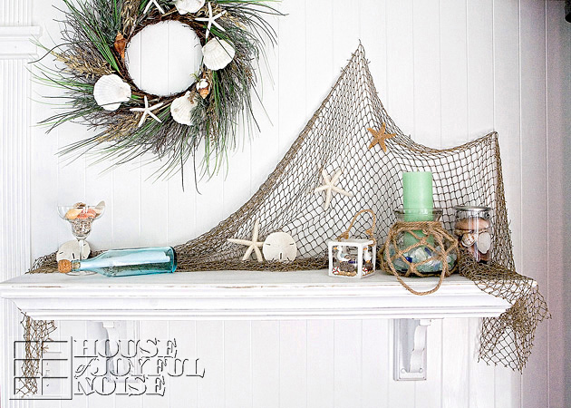 Mantel Decorating our summer mantels | home decorating ideas |