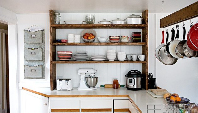 Our Open Farmhouse Kitchen Shelving | Before and After | Home Project