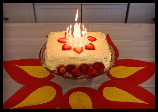 Pentecost Sunday cake