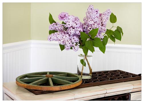 lilacs displaye in home