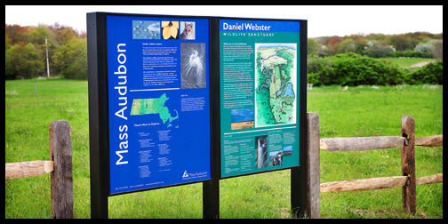 Mass Audubon sign