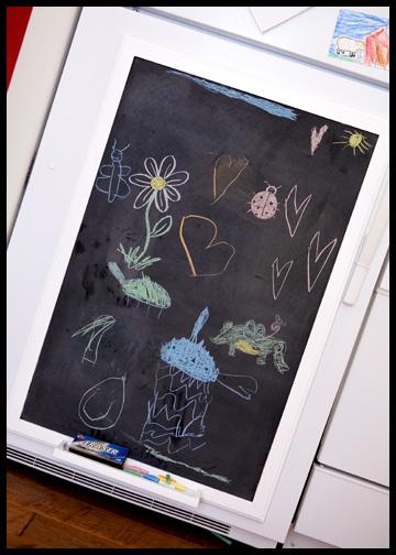 refrigerator chalkboard
