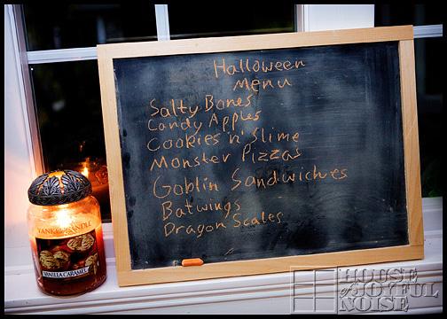 Hallowtide-menu