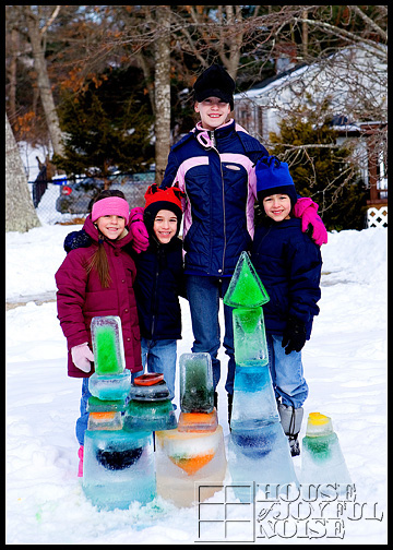 colored-ice-kids-with-castles-homeschooling-science-experiment