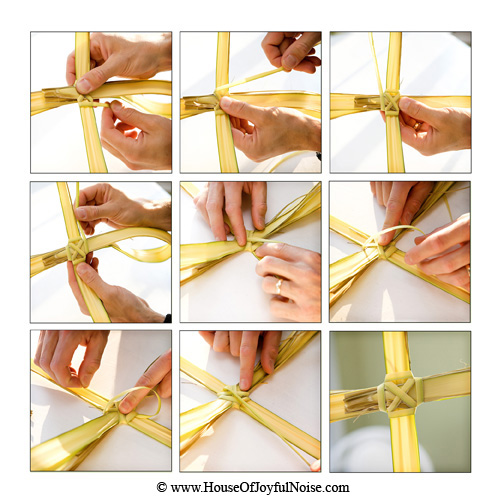 how to make a palm cross