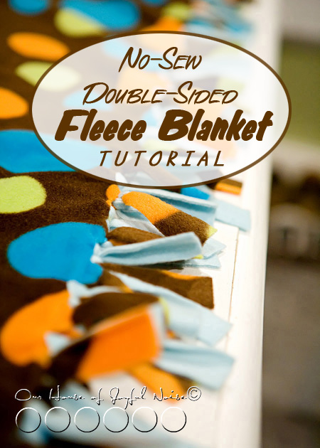 no sew double sided fleece blanket