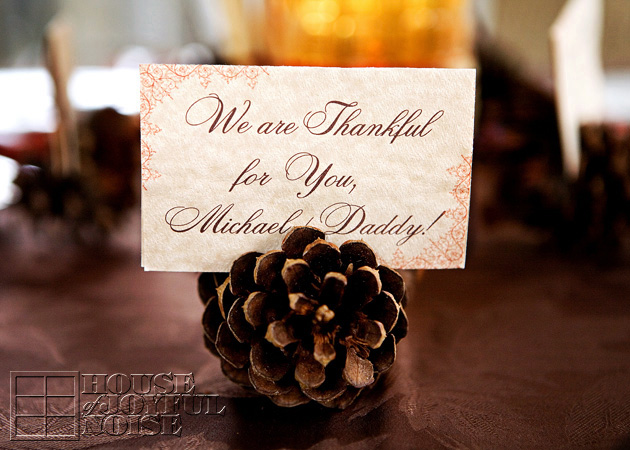 Thanksgiving Place Card Holder Turkey Free Personalizable