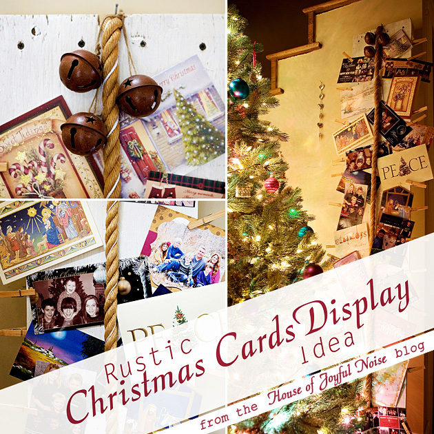 a rustic christmas cards display idea - Rustic Christmas Cards