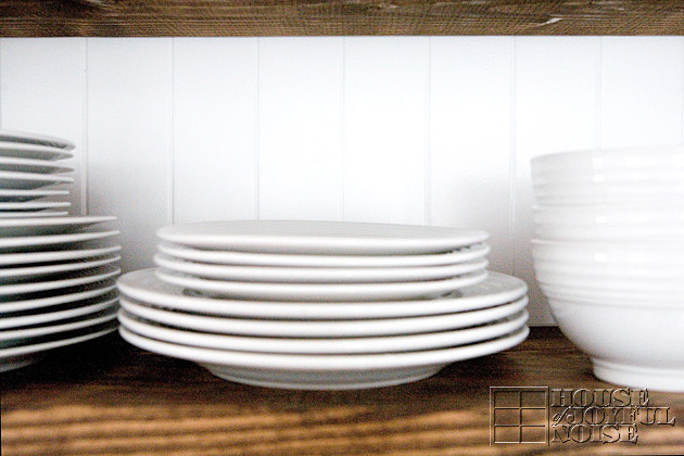 stack of white dishes