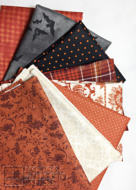 fall and Halloween fabric variety