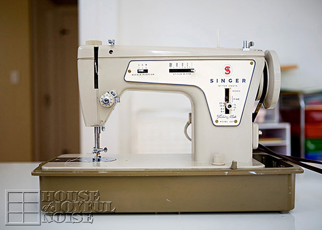 Old Simger sewing machine